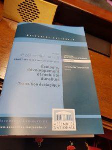 rapport transition écologique