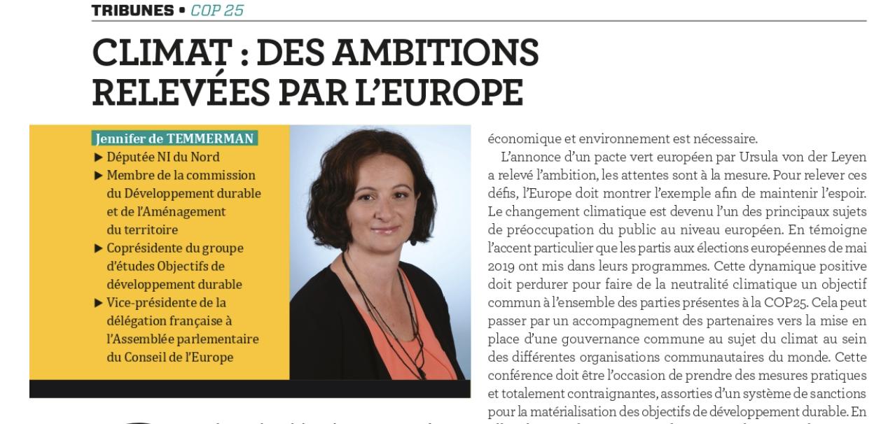 Climat : des ambitions relevées par l'Europe